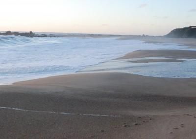 Marea alta playa grande