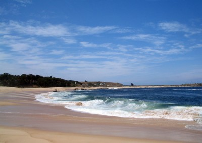 La playa de las ágatas.