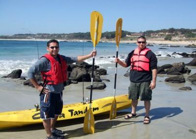Excelente playa para kayaks
