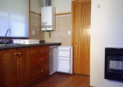 Calefon, refrigerador y estufa